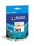 Tusz Black Point zamiennik do HP 363 (C8771EE) - Cyan (9 ml)