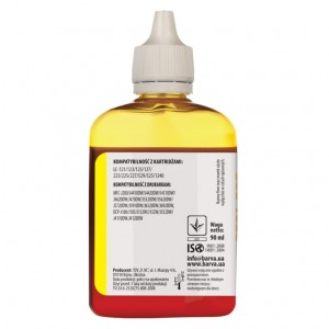 Dye ink Barva for Brother - Yellow 90 ml. (1)