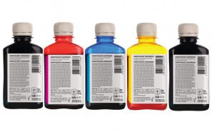 Set of inks Barva for Canon - 5x180 ml. (4 dye + 1 pigment)
