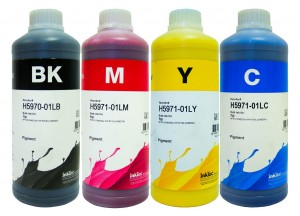 Tusze InkTec Pigment do HP OfficeJet 970/971 - komplet 4x1000 ml.