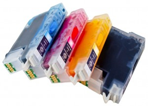 Set of Refillable Cartridges for Epson Expression Home XP-205