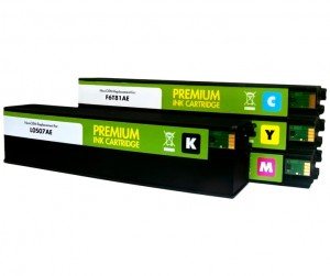 Tusze Static Control HP PageWide 973XL - Komplet CMYK