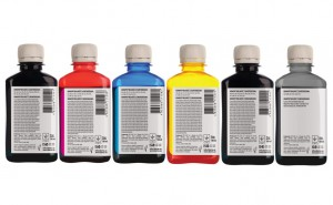 Set of inks Barva for Canon - 6x180 ml. (5 dye + 1 pigment) (1)