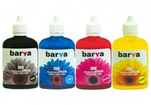 Set of dye inks Barva for Epson - 4x90 ml. (1)