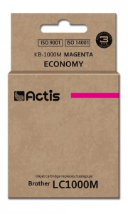Tusz Actis zamiennik do Brother LC1000/LC970 M (KB-1000M) - Magenta (36ml)