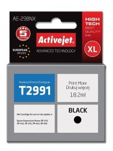 Tusz Activejet Supreme do Epson T2991 - Czarny (18,2 ml)