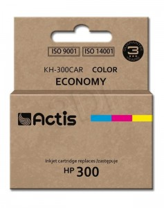 Tusz Actis zamiennik do HP 300 CC643EE (KH-300CAR) - Kolor C-M-Y (9 ml)