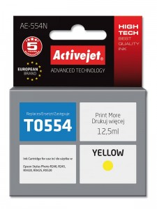 Tusz Activejet zamiennik do Epson T0554 - Żółty (12,5 ml)