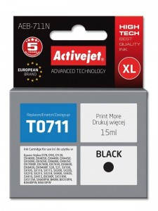 Tusz Activejet do Epson T0711 - Czarny (15 ml)