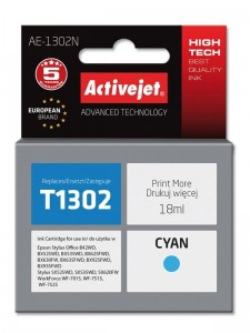 Tusz Activejet do Epson T1302 -Cyan (18 ml)
