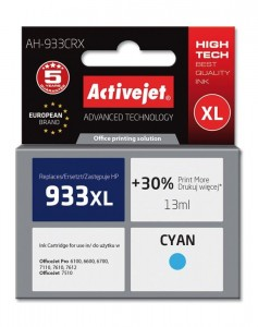 Tusz Activejet zamiennik do HP 933XL (CN054AE) - Cyan (13 ml)