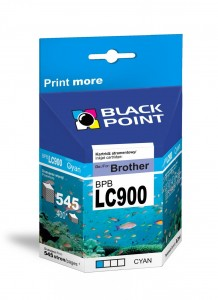Tusz Black Point do Brother LC900C - Cyan (8,2 ml)