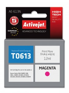 Tusz Activejet Supreme do Epson T0613 - Magenta (12 ml)