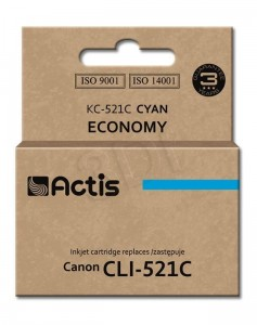 Tusz Actis zamiennik do Canon CLI-521C (KC-521C) - Cyan (10 ml)