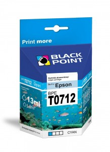 Tusz Black Point zamiennik do Epson T0712 (C13T07124010) - Błękitny 13 ml.