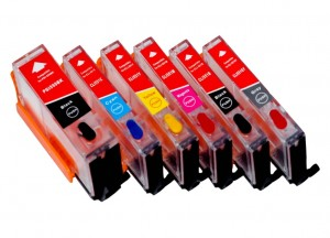 Set of Refillable Cartridges for Canon Pixma iP8750 6 colors