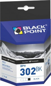 Tusz Black Point zamiennik do HP 302XL (F6U66AE) - Czarny (5 ml)