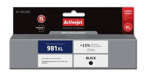 Tusz Activejet zamiennik do HP 981XL (L0R12AE) - Czarny/Black (250 ml.)