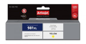 Tusz Activejet zamiennik do HP 981XL (L0R11AE) - Żółty/Yellow (147 ml.)