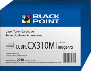 Toner Black Point zamiennik do Lexmark (80C2SM0) - Purpurowy 2000 stron