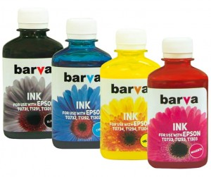 Tusze Barva do Epson EcoTank ITS 101 - komplet CMYK 4x180 ml.
