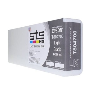 Tusz STS zamiennik do Epson T8047 – Light Black 700 ml Pigment HDX