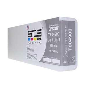Tusz STS zamiennik do Epson T8049 – Light Light Black 700 ml Pigment HDX