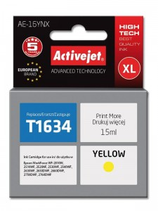 Tusz Activejet zamiennik do Epson T1634 XL (C13T16344010) - Żółty 15 ml.