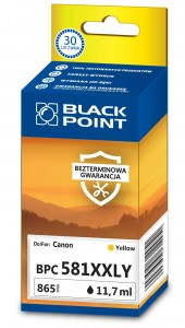 Tusz zamiennik do Canon CLI-581XXL Y produkcji Black Point - Yellow 11,7 ml