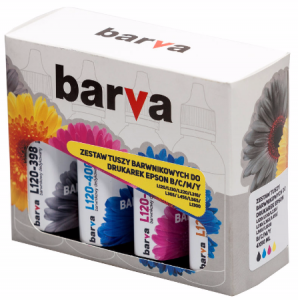 Tusze Barva do Epson EcoTank ITS 101 - komplet CMYK 4x90 ml.