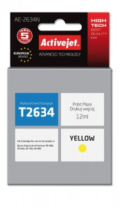 Tusz Activejet do Epson T2634 - Żółty (12 ml)