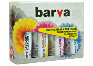 Set of inks Barva for Canon - 4x90 ml.  (1) (1) (1)