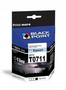 Tusz Black Point zamiennik do Epson T0711 (C13T07114010) - Czarny 13 ml.