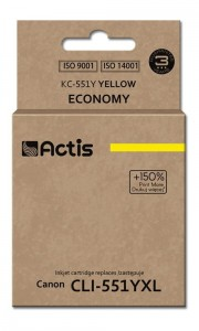 Tusz Actis zamiennik do Canon CLI-551(CLI551YXL) - Yellow/Żółty (12 ml)