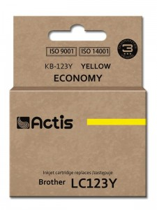 Tusz Actis zamiennik do Brother LC123Y (KB-123Y) - Żółty (10 ml)