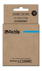 Tusz Actis zamiennik do Brother LC1000/LC970 C (KB-1000C) - Cyan (36 ml)