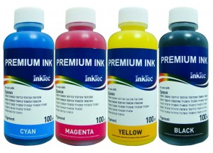 Tusze InkTec Pigment do Epson WorkForce Pro T7011-T7014 - komplet 4x100 ml.