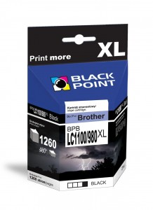 Tusz Black Point do Brother LC1100/980XLBK - Czarny (27ml)