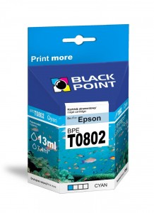 Tusz Black Point zamiennik do Epson T0802 - Cyan 11 ml.