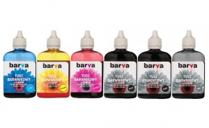 Set of inks Barva for Canon - 6x90 ml. (5 dye + 1 pigment)