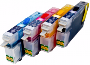 Set of Refillable Cartridges for Epson Expression Home XP-212