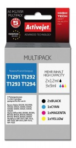 Tusz Activejet do Epson T1295  - Multipack (4szt. 39 ml)