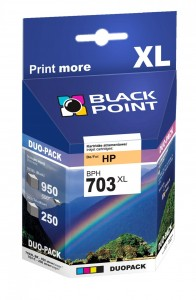 Tusze Black Point zamienniki do HP 703 (CD887AE) - Zestaw (Duopack) 36,5 ml.