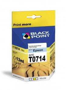 Tusz Black Point zamiennik do Epson T0714 (C13T07144010) - Żółty 13 ml.