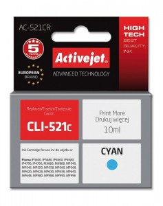 Tusz Activejet zamiennik do Canon AC-521BR - Cyan (10 ml)