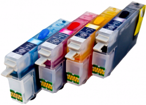 Set of Refillable Cartridges for Epson Expression Home XP-412