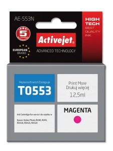 Tusz Activejet zamiennik do Epson T0553N - Magenta (12,5 ml)