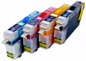 Set of Refillable Cartridges for Epson Expression Home XP-105