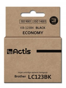 Tusz Actis zamiennik do Brother LC123BK (KB-123Bk) - Czarny (15 ml)