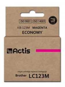 Tusz Actis zamiennik do Brother LC123M (KB-123M) - Magenta (10 ml)
